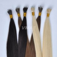 Wholesale light brown fusion hair extensions resale online - VMAE Remy Virgin Natural Blonde Soft Keratin Fusion g Double Drawn Straight Plastic Tip Nano Ring Link Queen Raw Hair Extensions