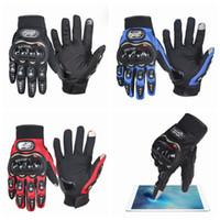 guantes de mano de carreras al por mayor-Guantes de carreras Hombres Guantes de moto Proteger las manos Dedo completo Mujeres respirar Guante flexible Pantalla táctil Guantes de protección solar ZZA537