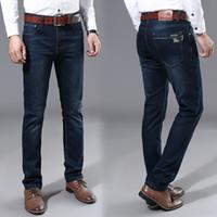 ingrosso jeans stretti-2019 tendenza mens jeans di alta qualità di lusso del progettista mens cotone collant casual hip hop mens jeans slim fit pantaloni equitazione di alta qualità 100%