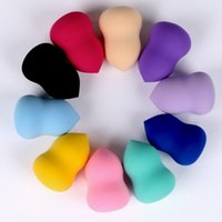licuadoras de belleza al por mayor-50 unids maquillaje esponja cosmética puff belleza mujeres kits de herramientas de maquillaje suave licuadora fundación esponja para el maquillaje para el cuidado facial al por mayor