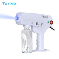 2020 Portable nano sterilizer steam gun blue ray hair nano spray Guns for disinfection and hair moisturizing home use DHL Free Shipping
