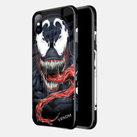 Wholesale anime pc case online – custom The Avengers Anime Phone Case Cover Tempered Glass TPU PC Painted Captain America Protective Case For iPhone s Plus