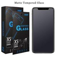 iphone mat cam toptan satış-Mat Temperli Cam iPhone 6 Için Artı 7 8 5 SE ben Telefon Xr Xs Max X Yansıma Önleyici Parmak Izi Ekran Koruyucusu