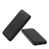 usb externes akku-ladegerät groihandel-Tragbare 10000mAh Energien-Bank Doppel-USB-externer Großraum Slim Design Battery Pack Powerbank-Ladegerät für Handy-Tablette