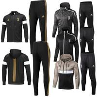 Wholesale gore tex xcr jacket online - Hot Juventus Hooded tracksuit jackets set maillot de foot Mens tracksuits Juventus soccer jackets Long sleeve pants clothing