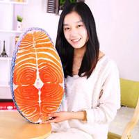 fisch wohnkultur großhandel-Waschbar amüsante Simulation leckeren Lachs Fisch Sushi Kissen Kissen Home Decor