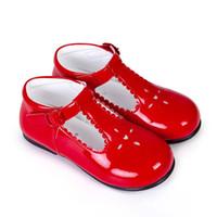 ingrosso scarpe da bambino in pelle bianca-Pettigirl 2019 Partito Scarpe Neonate Scarpe Rosso Rosa Bianco Microfibra Scarpe artigianali in pelle per bambini (senza scatola per scarpe)