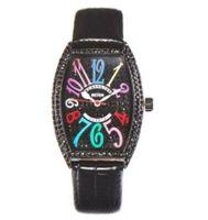 marcas de pulso de pulso venda por atacado-Moda Couro Tonneau Assista Homens Top Marca de Luxo Totalmente Diamante Mulheres Relógios Relógio de Pulso de Quartzo Para Homens