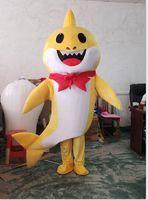ingrosso costumi della mascotte di bambino-newQuality nuovo tipo di grande bambino Shark Mascot Costume cartoon costume in costume di Halloween stock