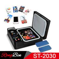bluetooth printer großhandel-ST2030 Kleines Licht 3d Sublimation Vakuum Transferpresse Maschine 3D Telefon Fall Drucker Wärmeübertragung für alle Handy Fall