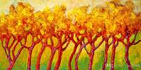 ingrosso linee moderne verniciate-YJ ART-tree-line-Unframed Modern Canvas Wall Art per la casa e l'ufficio Decorazione, Pittura, Pittura animale, Cornice pittura