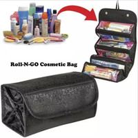 Wholesale travel makeup roll bag online - Roll N Go Cosmetic Bag Make Bag Multifunction Travel Use Storage Bag Easy Roll Up Good Use for Makeup Cosmetics Organizer Popular