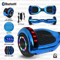 Wholesale balance scooters bluetooth speakers resale online - UL Electric Hoverboard smart self balancing built in Bluetooth speaker Scooter