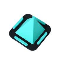 universal iphone mount venda por atacado-Uma peça multifuncional pirâmide de silicone universal smartphone mount para iphone xs max xr samsung 4 ângulo mesa stand suporte do telefone de 360 graus