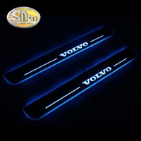 Wholesale car door sill led lights resale online - SNCN Waterproof Acrylic Moving LED Welcome Pedal Car Scuff Plate Pedal Door Sill Pathway Light For XC60