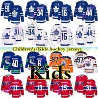 Wholesale toronto jersey boys for sale - Group buy Toronto Maple Leafs Kids Youth Jersey John Tavares Montreal Canadiens Vancouver Canucks Edmonton Oilers kids hockey jerseys