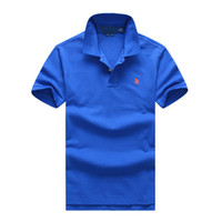 Wholesale polo men ralph resale online - Polo ralph t shirts lauren mens polos brand men luxury shirts men designer clothing t shirts Embroidery Pony mark top quality polos mens tee