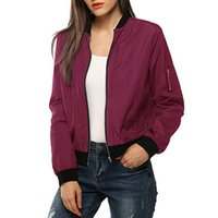 gesteppte kurze jacke frauen großhandel-Damen Jeansjacke Kurz Womens Classic gesteppte rote Jacke kurze weibliche Bomber warme Jacken Frau Plus Size Outwear