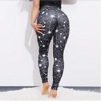pantalones de yoga de chicas delgadas al por mayor-Mujeres Capris Deportes en blanco y negro Chica Pantalones pitillo elásticos ajustados ajustados Elásticos Slim Fit Fitness Lápiz Pantalones Pantalones de yoga para mujeres