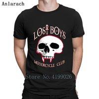 customização da motocicleta venda por atacado-Perdidos meninos motocicleta clube 2 face camisa para vampiros motociclistas camiseta de algodão luz solar qualidade roupas de fitness popular personalizado