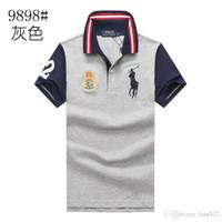 markalar t shirt man toptan satış-Moda erkek ralph polo gömlek lauren marka erkekler polos İş Eğlence t shirt yaz Nefes polos gömlek moda klasik polo gömlek