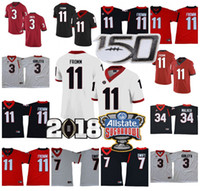 Wholesale carson wentz jersey stitched for sale - Group buy NCAA Georgia Bulldogs UGA Football Jake Fromm DAndre Swift Todd Gurley II Herchel Walker TH Jerseys Stitched