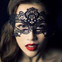 sexy augenmasken für damen großhandel-21 Arten Sexy Lady Lace Mask Mode Hohl Augenmaske Schwarz Maskerade Party Fancy Masken Halloween Venetian Mardi Party Kostüm VT1350