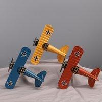 ingrosso artigianato in ferro battuto-Fabbrica diretta Zakka retrò grande fatto a mano in ferro battuto modello di aereo ornamenti artigianato creativo casa in metallo