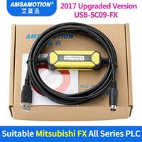 cabo mitsubishi usb venda por atacado-FreeShipping Cabo USB-SC09-FX Adequado Cabo de Programação PLC Mitsubishi FX0N FX1N FX2N FX0S FX1S FX3U FX3G Cabo de Comunicação Série
