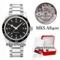 caixa de relógio do planeta oceano venda por atacado-Melhor Edição MKS Planeta Oceano Co-Axial 300 Specter 007 Automático Cal.8400 Aço Inoxidável Mens Watch James Bond Relógios Caixa Original Suíço