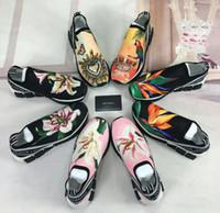 ingrosso marchio logo scarpe-Designer Uomo Scarpe Unisex Blu Nero Bianco Maglia Marchio Sneaker Per Donna D Logo Scarpe sportive Sneakers Uomo Casual G Scarpe Con Scatola 36-45