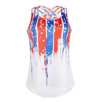frauen-amerikanisches flaggen-trägershirt großhandel-Frauen American Flag Print Ärmelloses Unterhemd Frauen-Tanktops Unterhemd sexy lässige Frauen Westen sexy Tank