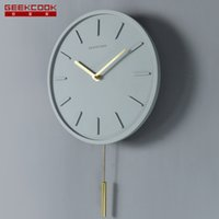 Wholesale modern swing resale online - 3d Creative Wall Clock Modern Design Pendulum Clocks Wall Concrete Quartz Clock Living Room Swing Bedroom Decorative Watch SC093