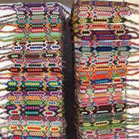 ingrosso braids di amicizia-Alta qualità Vintage Bohemian 1.5CM Larghezza intrecciato corda di cotone polsino bracciale amicizia bracciali cavigliera gioielli estivi