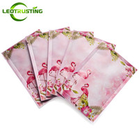 Wholesale vacuum seal bags resale online - Leotrusting Flamingo Open Top Aluminum Foil Vacuum Bag Resealable Small Heat Sealing Sheet Facial Mask Foil Sealing Bags