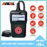 Wholesale fault codes for cars resale online - ANCEL AS100 OBD2 Automotive Scanner Multi language ODB2 OBD Fault Code Reader For Engine Check Car Diagnostic Tool PK ELM327