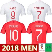 721c218235b NEW Top quality 2018 2019 England World Cup Soccer Jersey18 19 Kit 9  KANE  10 STERLING 11 VARDY 19  RASHFORD 20 DELE Football Shirts
