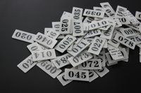 plaques d'immatriculation acrylique achat en gros de-Acrylique Table De Bureau Signe Collant Numéro Carte Plaque De Stockage Plateau Armoire Nombre Autocollant Porte Plaque De Porte Nombre Signage Tag Adhésif