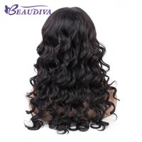 Wholesale baby loosing hair for sale - Group buy Beaudivas Lace Front Human Hair Wig Brazilian loose Wave Lace Front Wig With Baby Hair Remy Glueless full End Lace Wig