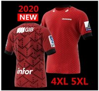 große trikots groihandel-Neueste 2020 Neuseeland Super-Rugby-Trikots Crusaders Heimtrikot Liga Shirt CRUSADERS Rugby Jersey große Größe s-5xl zum Verkauf