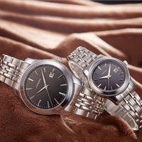 Wholesale sinobi luxury watch resale online - SINOBI Top Brand Lovers Watch Fashion Men s Watch Luxury Full Steel Women s Watches Clock Unisex saat reloj hombre