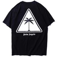 Wholesale logo for sale - Group buy 2019 Summer PA Palm Tree Logo Printed Women Men T shirts tees Hiphop Streetwear Men Cotton Short Sleeve T shirt