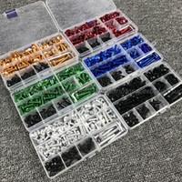 r6 cila kiti toptan satış-Yamaha YZF R125 R15, R25, R1, R3, R6, TMAX530 tmax500 XMAX300 Fairing Cıvata kiti tutturma elemanı Klipler Vidalar