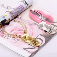 Wholesale woman mask pendant for sale - Group buy Hot sale alloy face mask pendant vintage Gold Silver women Portrait Chain for gifts