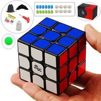 manyetik küp oyuncak toptan satış-Yj Mgc 3x3x3 Manyetik Neo Sihirli Siyah / mix Renk Bulmaca Hız Küp Beyin Eğitim Oyuncaklar Çocuklar Çocuklar Için Yetişkin Q190530