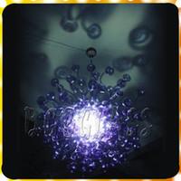 ingrosso migliori arti moderne-Best Seller Hot Blue Modern Lampada a sospensione in Murano soffiato a mano in vetro di Murano Lampadari in vetro per soggiorno e camera da letto