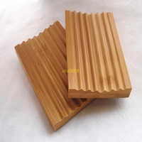 Natural Bamboo Soap Dish Soap Tray Holder Storage Soap Rack Plate Box Container for Bath Shower Plate Bathroom