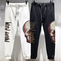 pantalons crâne pour hommes achat en gros de-Nouvelle inscription hommes pantalons Skull Printing casual hommes vêtements hommes vêtements hommes vêtements haut de gamme