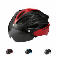 Wholesale woman mtb helmet resale online - 2020 Bicycle Helmets Men Women Bike Helmet Back Light MTB Mountain Road Bike Integrally Molded Cycling Helmets