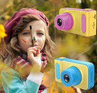 digitalkamera-format großhandel-NEUE Kinder Kamera Mini Digitalkamera Niedlichen Cartoon Cam 1080 P Kleinkind Spielzeug Kinder Geburtstagsgeschenk 2 Zoll Bildschirm Cam Geburtstagsgeschenk Zoll bildschirm